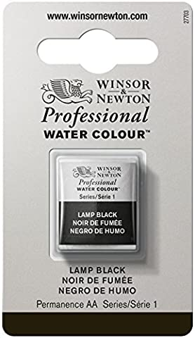 Winsor & Newton Professional Aquarellfarben Halber Napf Lampenschwarz