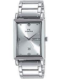 Maxima Analog Silver Dial Men's Watch-40981CMGI