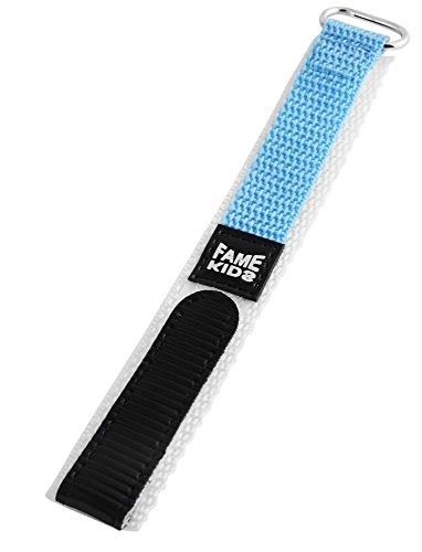 Textil Klettband Uhrenarmband Uhrenband Uhrband Ersatzband Armband hellblau RP8323522048 Stegbreite 22 mm, Gesamtlänge 15 cm, Bandstärke 3 mm
