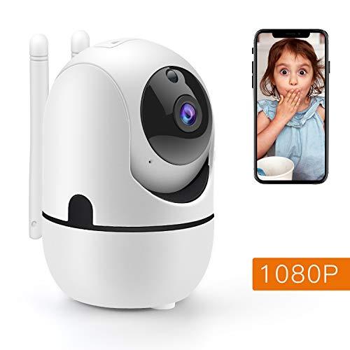 1080P Überwachungskamera WiFi heimkamera überwachung innen IP Kamera Pan/Tilt, Zwei-Wege-Audio/Nachtsicht/Bewegungserkennung/Cloud-Service für Baby/Elder/Pet/Nanny -