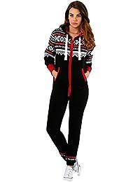 Juicy Trend Mujer Adulto Onesie Ropa de dormir Pijamas OnePiece - Mono para Mujer