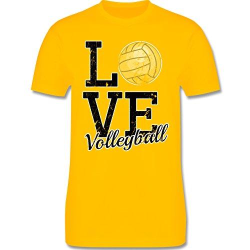 Volleyball - Love Volleyball - Herren Premium T-Shirt Gelb