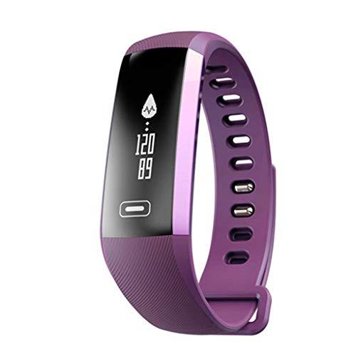 chtes intelligentes Armband mit dem Schlaf-Monitor, der den Tätigkeits-Verfolger-Pedometer kompatibel mit androiden Telefonen abnimmt-Purple ()