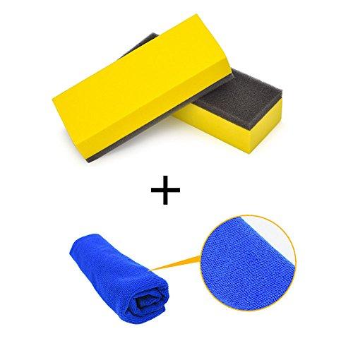 Ocamo Weiches Multifunktions-Starke Wasseraufnahme Auto Reinigung Schwamm + Handtuch Auto Reinigung Tool