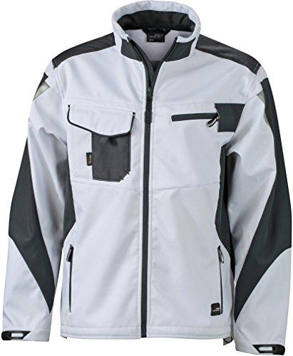 FaS50844 Workwear Sommer Softshell Jacke atmungsaktiv wasserabweisend Herrenjacke White/Carbon