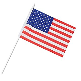 Anley USA Stick Flag, American 5x8 inch (12 X 20cm) HandHeld Mini Flag With 12