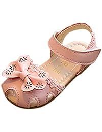 Zapatos bebé niña verano ❤️ Amlaiworld Sandalias florales de niñas Sneaker calzado Zapatos de vestir Casual Cordón Zapatos de princesa (Rosado, 21)