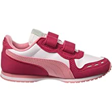 PUMA Kids' Cabana Racer Sl V Ps Sneakers, White White/Bright Rose/Peony 81, 1 UK 33 EU