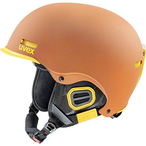 UVEX Skihelm hlmt 5 pro, Brown/Yellow Mat, 59-62 cm, S5661468607