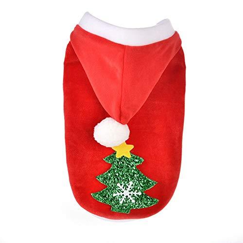(WAXDEOLM Weihnachten Hund Kleidung Winte Mantel Kleidung Santa kostüm schoßhund Weihnachten Kleidung süßes hündchen Outfit für Hund,s,rot)