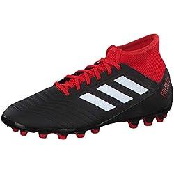 adidas Predator 18.3 AG, Botas de fútbol para Hombre, (Negbás/Ftwbla/Rojo 000), 40 EU