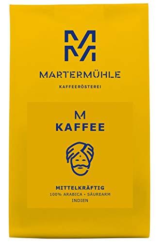 Martermühle | Kaffee M-Kaffee (1kg) | Gemahlen | Premium Kaffeebohnen aus Indien | Schonend geröstet | Filterkaffee säurearm | 100% Arabica (Indien Kaffee)