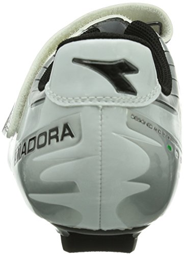 Diadora - Phantom, Scarpe da ciclismo Unisex – Adulto Bianco (Weiß (silber/weiß/schwarz 1573))