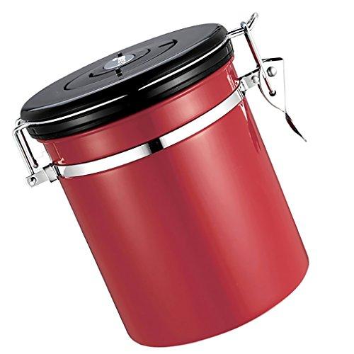Fenteer Kaffeedose Luftdicht,Kaffeebehälter,Edelstahl Aromadose Vorratsdose für Kaffeebohnen,...
