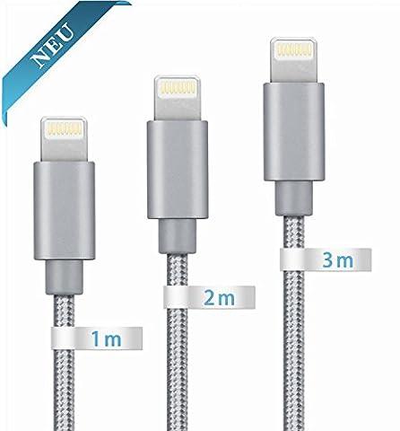 Globalink[TM] Câble Pour iPhone (1m 2m 3m) Câbles Lightning Vers