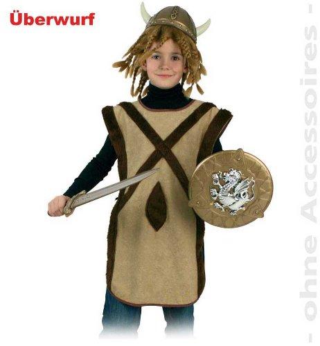 Fries 2066 Nordmann Überwurf Kinder Kostüm Fasching Karneval Wikinger Verkleiden: Größe: 128/140 (Wikinger Kostüme Für Kinder)