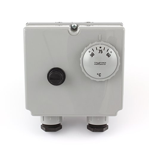 Thermostat Limiter (IMIT TLSC 07050 542816 adjustable (60 - 90 Degrees °C) Dual Immersion Thermostat - twin control and manual reset high limit stat for Oil Fired Boiler. by IMIT)