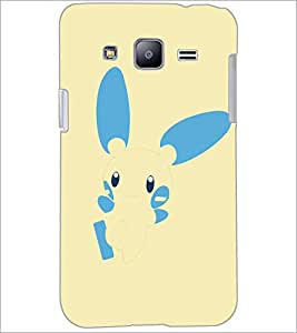 PrintDhaba Bunny D-5146 Back Case Cover for SAMSUNG GALAXY J2 (Multi-Coloured)