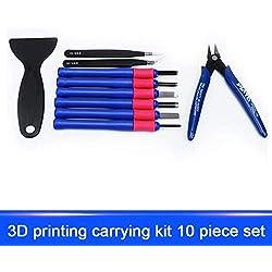 AiCheaX - Nuevos 10pcs Set Alicates de corte Pinzas Kits de herramientas de impresora 3D Accesorios para reparar EM88 - (Color: Azul)