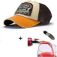 Malloom® Nueva unisex gorra de béisbol algodón mezclado motocicleta Gorra  molienda borde haga viejo Sombrero e56f352c967