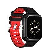 YSCYLY Fitness Tracker Smart Watch Bluetooth Multifunktions Wasserdichte IP67 4G 1 GB / 8 GB Telefon Unterstützung Herzfrequenz SIM Karte für Android 6.0,Red
