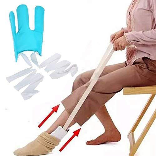 Sock Aid Sock Slider leicht auf leicht aus auf Ihre Socke ohne Biegen für Senioren, behinderte, schwangere Frauen Flexible Deluxe Compression Socks Strümpfe