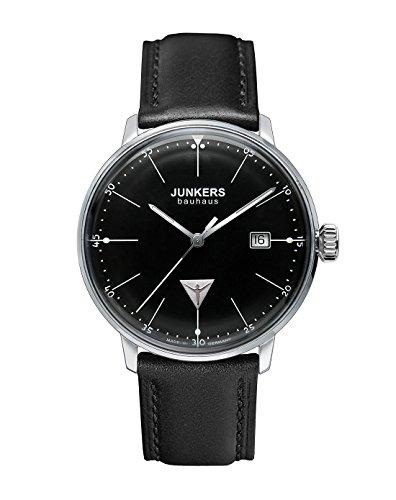 Junkers Herren-Armbanduhr XL Bauhaus Ronda515 Analog Quarz Leder 60702
