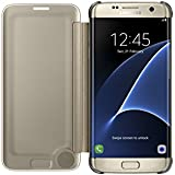 Samsung Original Clear View Cover Hülle EF-ZG935 für Galaxy S7 edge - Gold