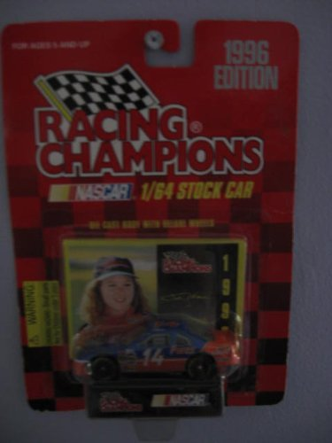 Racing Champions 1/64 scale stock car with collectible card 1996 Edition #14 Patty Moise by Racing Champions