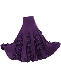 Sharplace Jupe Flamenco Ballroom Danse Robe Jupe Balançoire Vêtement  Déguisment Femme Fille 8a3cef057e6