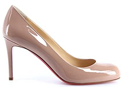 CHRISTIAN LOUBOUTIN Chaussures Femmes Decollete Simple Pump 85 Patent Calf Nude