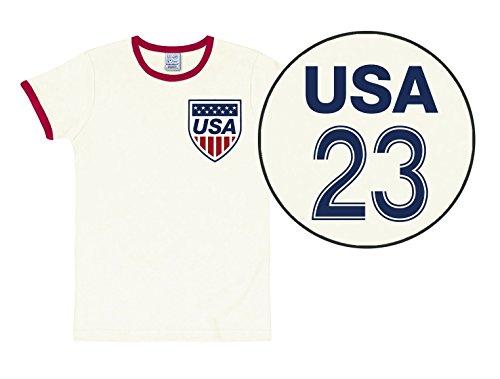 T-Shirt Team USA - Fussball - Rundhals Shirt - Rundhals Shirt von LOGOSHIRT - schwarz - Originaldesign, Größe XS Amerika Shirts-fußball-team