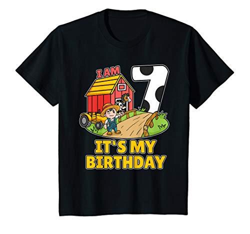 Bauer Shirt Kostüm - Kinder 7. Geburtstag Bauer Shirt Landwirt Ich Bin Schon 7 Jahre T-Shirt