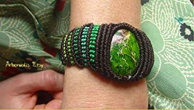 Bracelet druida chaman mage nature Spirit Jasper Forest Tolkien Viking Tolkien Magic magicien Wicca Celtic Nordico Mythologie symboles celtiques Britannia Breton gaélique