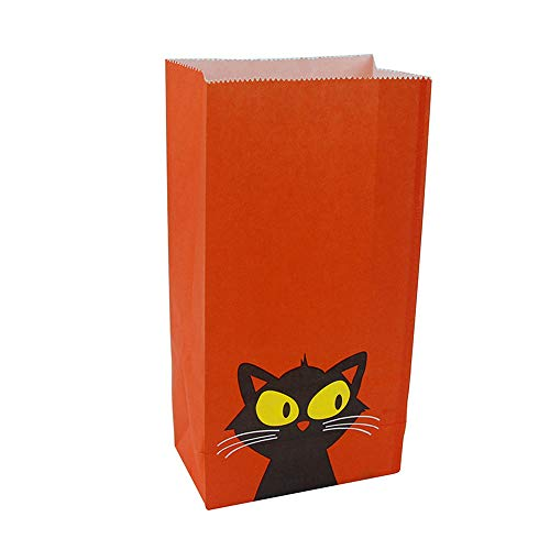 10 Stück Halloween Paper Bag Festival Cartoon Jack-O'-Laterne Boo Candy Party Geschenktasche Für Childern,001 (Paper Halloween-laternen Bag)