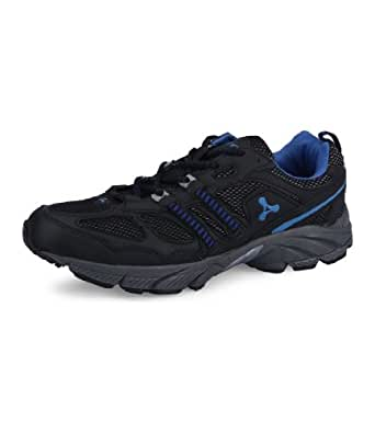 SPINN Men TERMINATOR Black Blue Mesh Synthetic Sports shoe Size 6 UK