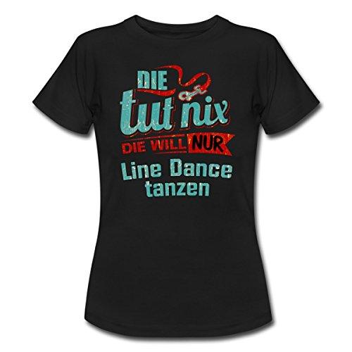 Spreadshirt Die Tut Nix Die Will Nur Line Dance Rahmenlos Petrol Damen  Sportart Sports Fun Design