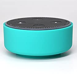 Silicone Case For Amazon Echo Dot By Auchee - Stylish Dress Up Cover Case Fits Echo Dot 2nd Generation Only (Green)