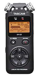 Tascam DR-05 V2 - Professioneller Digitalrekorder für lineares PCM / MP3, micro SD / SDHC-Karte (2 GB enthalten), Schwarz