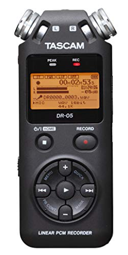 Tascam DR-05 V2 - Professioneller Digitalrekorder für lineares PCM / MP3, micro SD / SDHC-Karte (2 GB enthalten), Schwarz (Dj-audio-recorder)