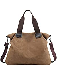 73074c4504 Donna Borsa Cotone Tela Borsetta a Tracolla Shopping Bag Vintage Casual  Tote Shopper Borse per Signore