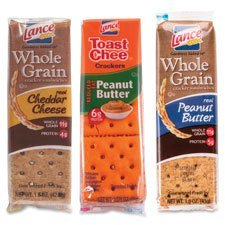 Lance LNE40626 Cracker Sandwiches Variety Pack, 24 Per Box by Lance