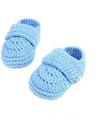 BaZhaHei Zapatillas de Niños Niña Bebé Cuna Crochet Bebé informal Hecho a mano Calcetín de punto