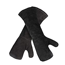 LAIABOR Extreme Heat Resistant Gloves For BBQ Use As Oven Mitt, Pot Holders, Baking, Fireplace Kitchen