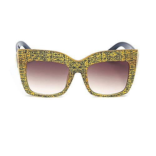 Yiph-Sunglass Sonnenbrillen Mode Männer Polarisierte Sonnenbrille Frauen Cat Eye Beschichtung Gespiegelte Sonnenbrille zum Fahren Angeln Outdoor Sports Sonnenbrille (Farbe : C3, Größe : Free)