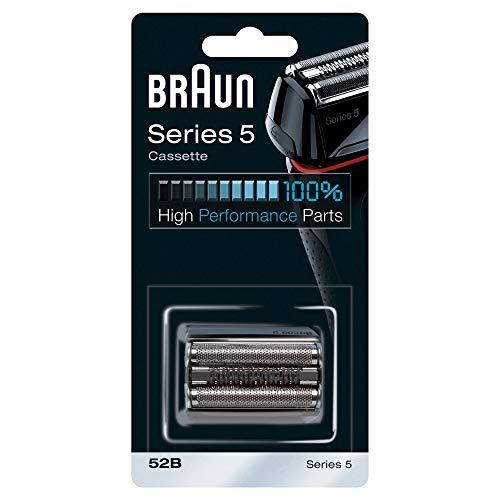 Braun Elektrorasierer Ersatzscherteil 52B, kompatibel mit Series 5 Rasierern, schwarz