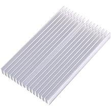 Radiador de Aluminio Disipador de Calor Transistor Amplificador de Alta Potencia para un Dispositivo Semiconductor con 16 pcs Fins 3.93