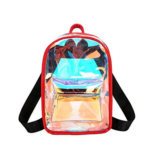 Kaister Damen Umhängetaschen mädchen transparent umhängetasche rucksack schüler schule reisetasche Shopper für Schule Shopping Arbeit Einkauf Schwarz -