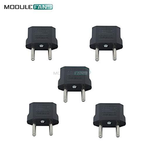 Outlet Usa (5pcs HochWertige US-USA zum Europäischen Euro-EU-Reise Lader-Adapter-Plug-Outlet-Adapter)