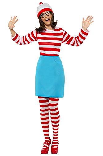 Film/TV Damen Lizensiert Kostüm Wo ist Wally Wenda Kostüm Komplettes Outfit - Damen, Multi, (Damen Ist Kostüm Wally Wo Für)
